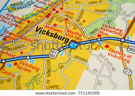 Vinnitsa Ukraine January 18 2017 Vicksburg United States Map
