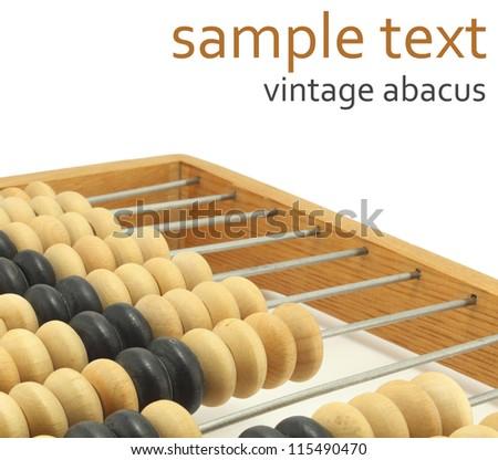 vintage abacus - stock photo