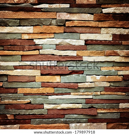 Vintage abstract background of colorful stone wall texture  - stock photo