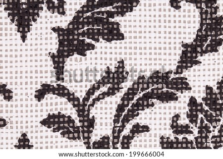vintage abstract flowers textiles fabric close up texture - stock photo