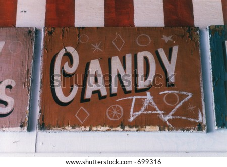 Vintage advertising sign, Brighton Beach, New York
