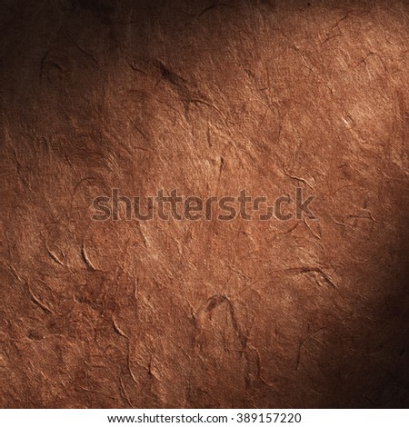 Vintage aged old paper. Original background or texture. Close up - stock photo