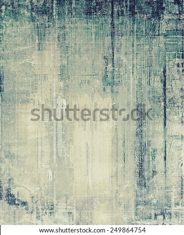 Vintage aged texture, colorful grunge background with space for text or image. With different color patterns: yellow (beige); gray; blue; cyan - stock photo