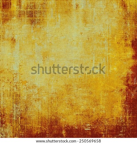 Vintage aged texture, colorful grunge background with space for text or image. With different color patterns: yellow (beige); brown; red (orange) - stock photo