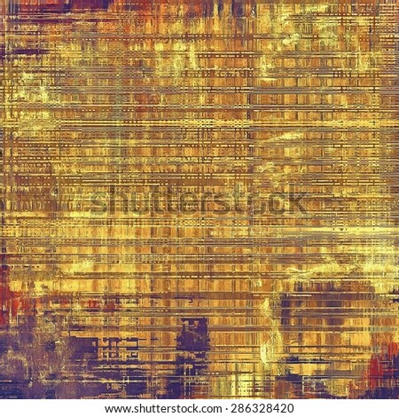 Vintage aged texture, colorful grunge background with space for text or image. With different color patterns: yellow (beige); brown; gray; purple (violet) - stock photo