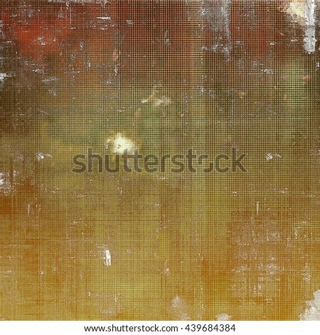 Vintage aged texture, old scratched background. With different color patterns: yellow (beige); brown; green; red (orange); gray; white - stock photo