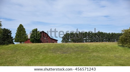 Vintage aging wooden barn in the Midwest