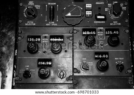 Vintage airplane controls