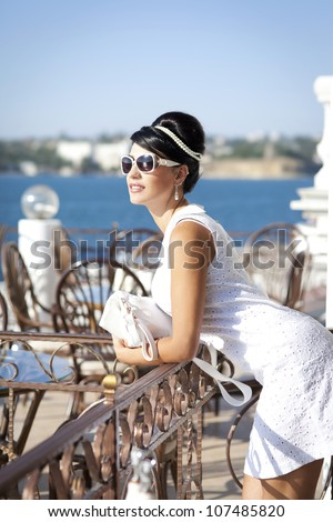 stock photo vintage alluring brunette woman relaxing in luxury hotel restaurant cote d azure stylish rich slim 107485820 Inside Straightforward Solutions In Mail Order Bride