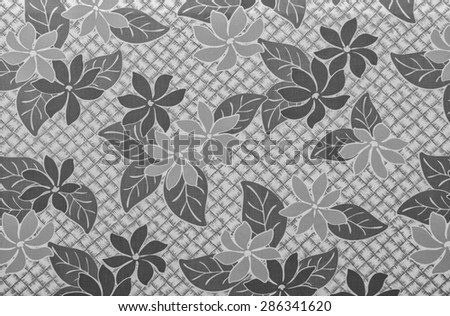 Vintage aloha cloth background in tones of black, white and gray. - stock photo
