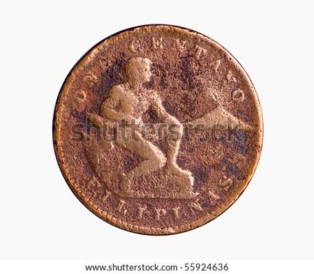 Vintage American Era Philippine Copper Coin - stock photo