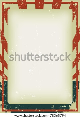 Vintage American Poster/ Illustration of a cool grunge american poster - stock photo