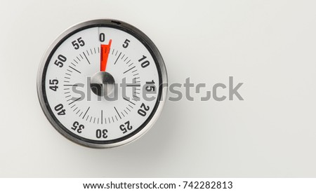 vintage analog kitchen countdown timer classical stock photo