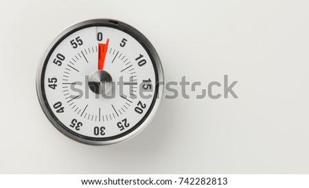 vintage analog kitchen countdown timer classical stock photo