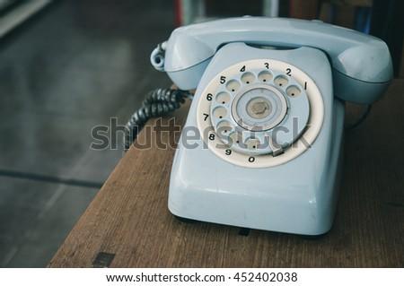Vintage analog telephone - stock photo