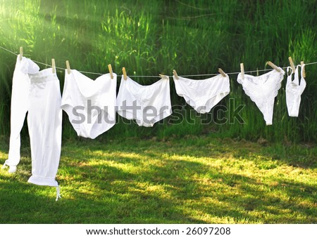Vintage and modern panties drawing on the clothes line, approx from year 1900 to 2008!!! See how fashion is changing:))