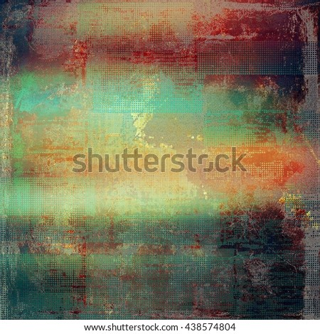 Vintage and retro design elements on faded grunge background. With different color patterns: brown; green; red (orange); purple (violet); gray; pink - stock photo