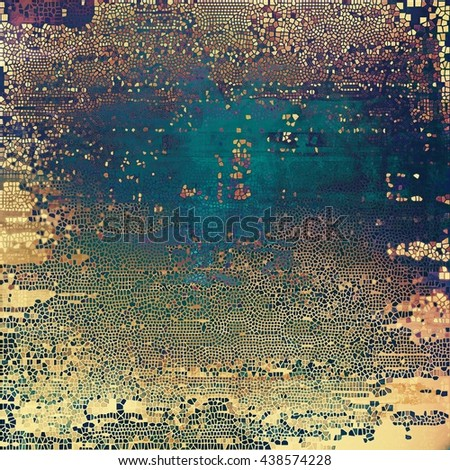 Vintage and retro design elements on faded grunge background. With different color patterns: yellow (beige); brown; blue; red (orange); purple (violet); pink - stock photo