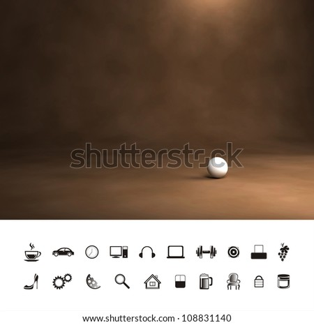Vintage antique brown background. - stock photo