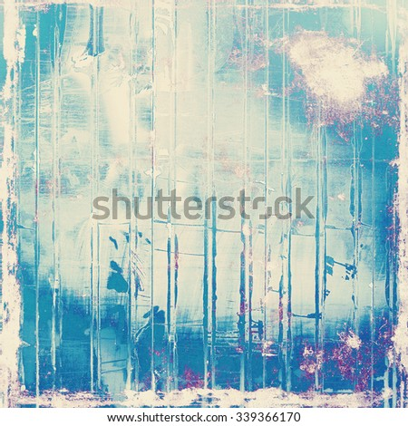 Vintage antique textured background. With different color patterns: blue; white; purple (violet); cyan - stock photo