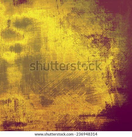 Vintage antique textured background. With different color patterns: orange; brown; yellow; gray; violet - stock photo