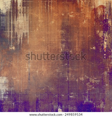 Vintage antique textured background. With different color patterns: yellow (beige); brown; gray; purple (violet); red (orange) - stock photo