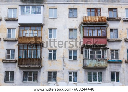 Old building stock images royalty free images vectors for Stucco facade