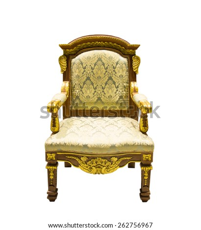 Vintage armchair Thailand Style isolated on a white background