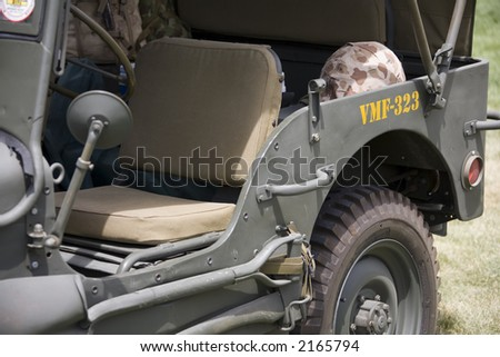 Vintage army vehicle - stock photo