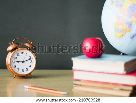 Vintage back to school concept - stock photo