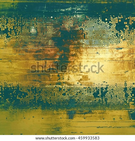 Vintage background, antique grunge backdrop or scratched texture with different color patterns: yellow (beige); brown; gray; green; blue