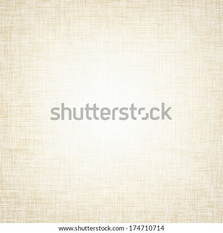 vintage background bright canvas texture and delicate beige vignette - stock photo