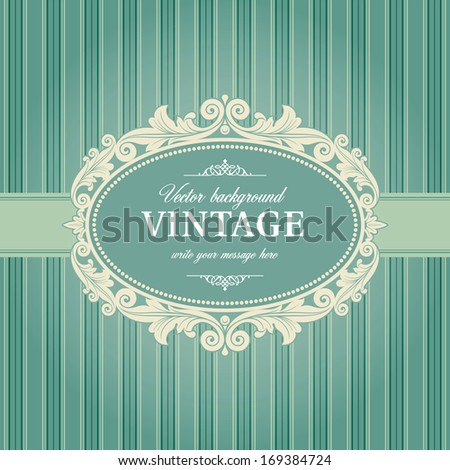 Vintage Background Frame Template. Vector version is also available