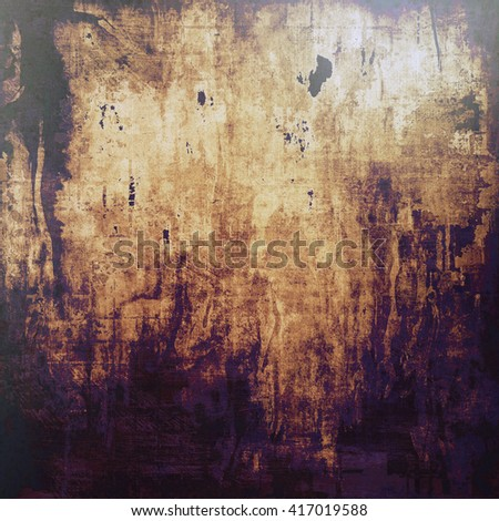 Vintage background in scrap-booking style, faded grunge texture with different color patterns: yellow (beige); brown; gray; purple (violet); black - stock photo