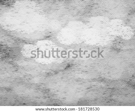Vintage background in the gray shade with clouds. - stock photo