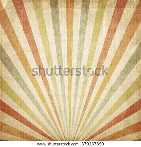 Vintage background Multicolor rising sun or sun ray,sun burst retro paper be crumpled  - stock photo