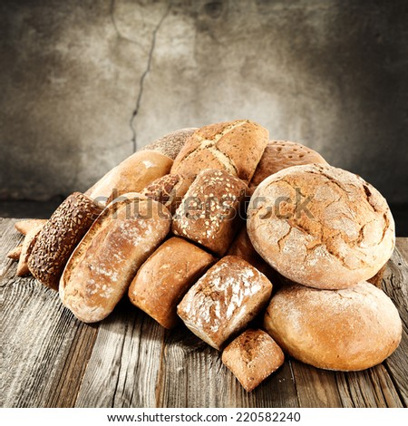 vintage background of brown bread