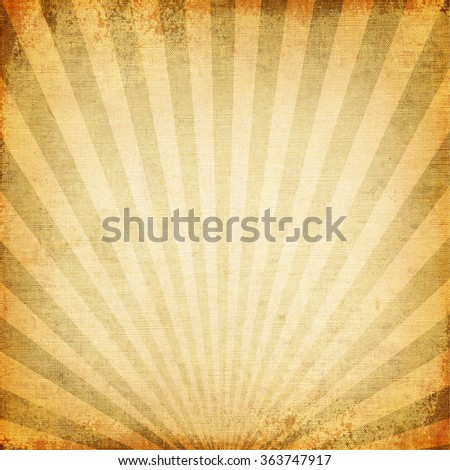 Vintage background of sun beam, old canvas texture