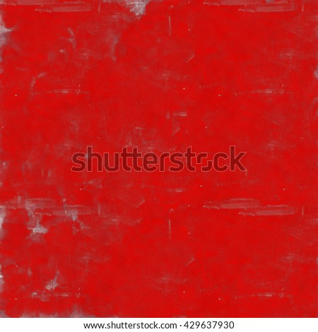 Vintage background. Old paint smudge. Cracked plaster. Red color. The texture of tempera. Smeared paint, plaster. Grunge background. Grunge wall - stock photo