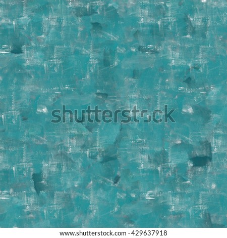 Vintage background. Old paint smudge. Cracked plaster. Turquoise color. The texture of tempera. Smeared paint, plaster. Grunge background. Grunge wall - stock photo