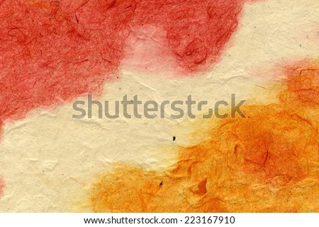 Vintage background paper with grunge texture, remnants of the paint layer - stock photo