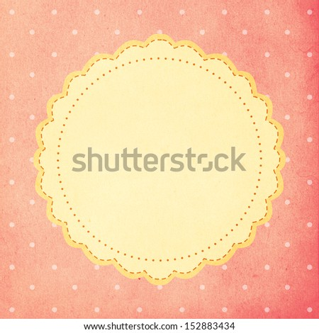 vintage background, polka dot style, retro - stock photo