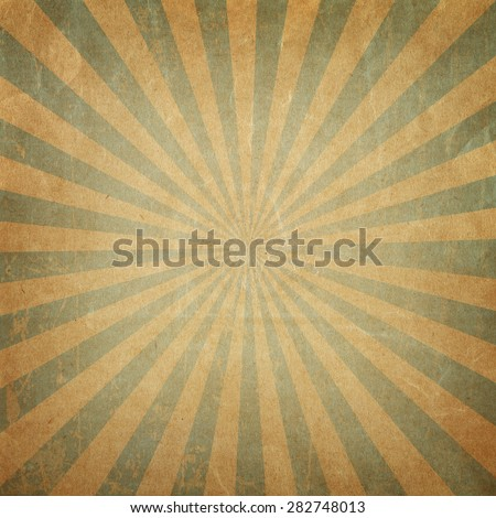 Vintage background  rising sun or sun ray,sun burst retro paper background
