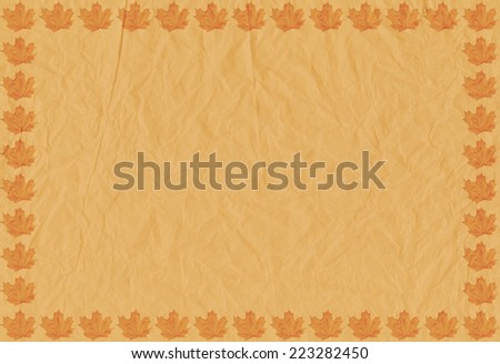 Vintage background with autumn leaves  - stock photo