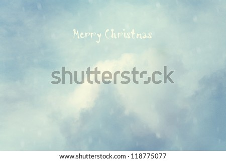 Vintage background with fantasy clouds. Christmas card