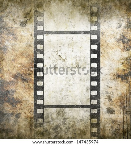 Vintage background with film frame - stock photo