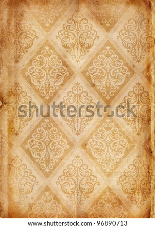 Vintage background with flower ornament