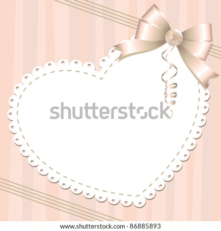 vintage background with glossy bow and pearl