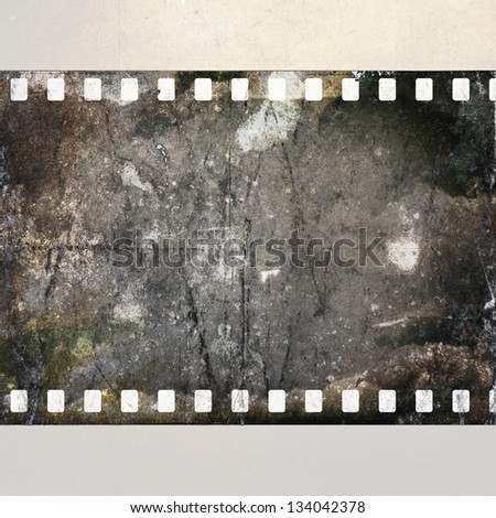 vintage background with old film - stock photo