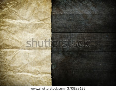 Vintage background with old paper sheet - stock photo